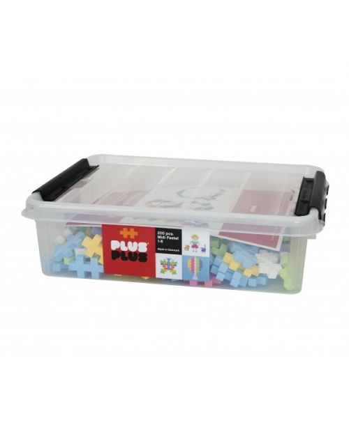Plus Plus konstruktorius Midi Basic 200 plastikinė pakuotė