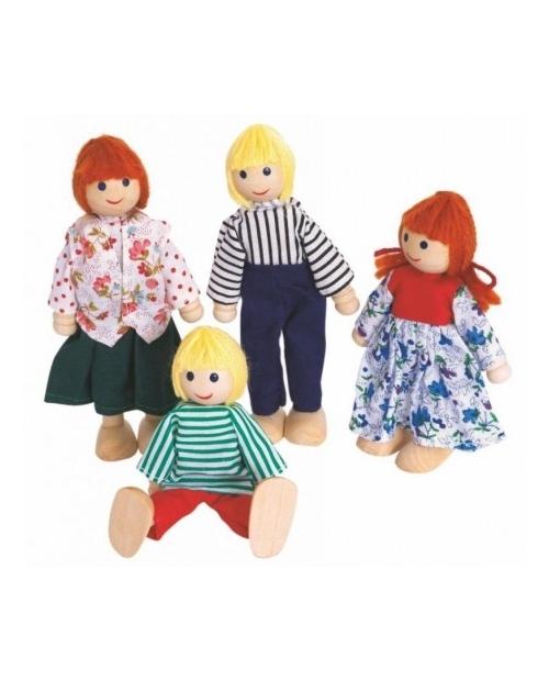 Medinė lėlių šeima 4 asm.