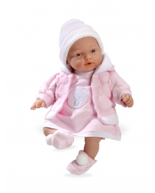 Lėlytė Hana su rožiniu švarkeliu, 28 cm