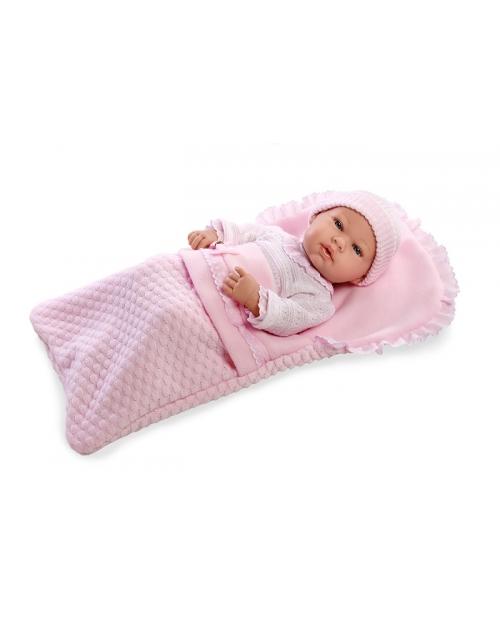 Kūdikėlis rožiniame vokelyje, 42 cm