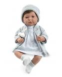 Lėlytė Tėja su melsvais rūbeliais, 42 cm