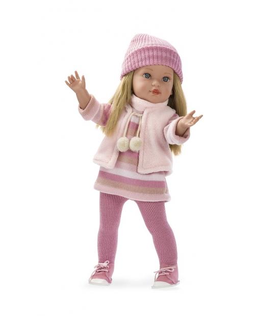 Lėlytė Karla su rožiniais rūbeliais, 49 cm