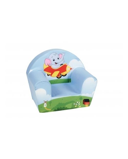 """Mėlynas vaikiškas fotelis - """"Skraidantis drambliukas"""""""