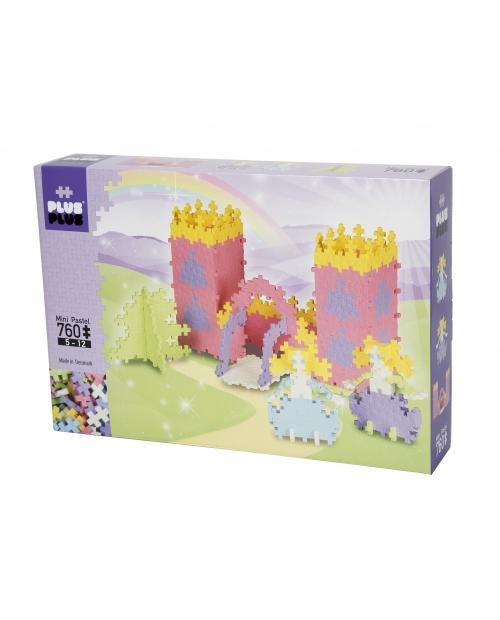 Plus Plus konstruktorius, Rožinė pilis, Mini pastelinės 760