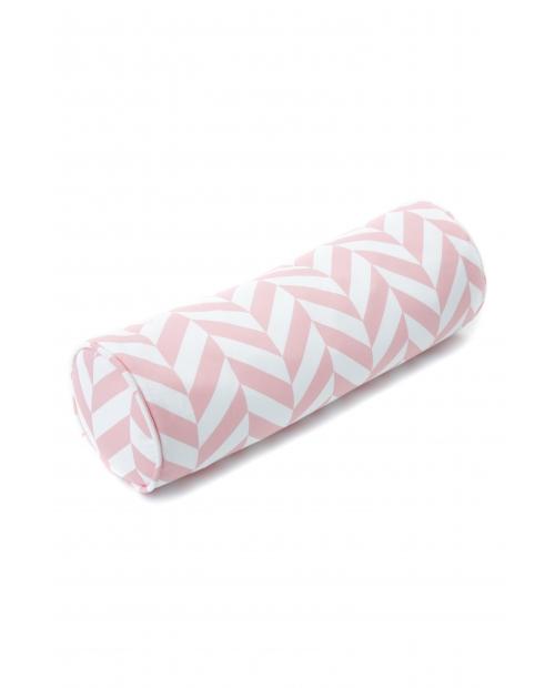 """Ruloninė pagalvėlė """"Eglutė"""" (rožinė) Roll Pink Herringbone"""