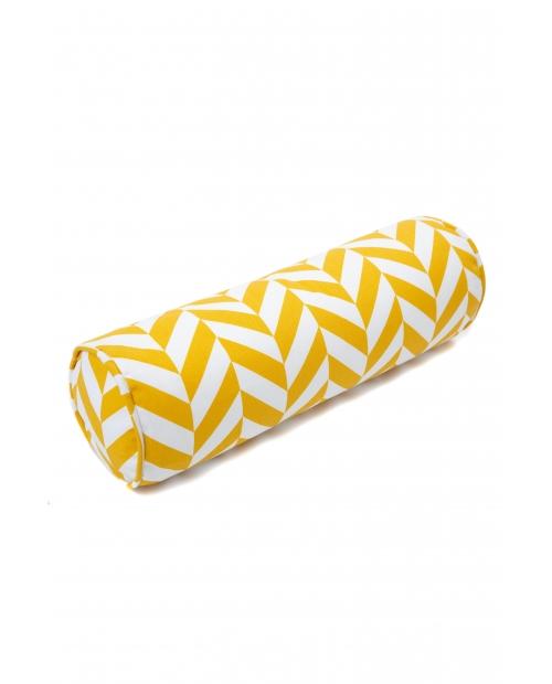 """Ruloninė pagalvėlė """"Eglutė"""" (garstyčių) Roll Mustard Herringbone"""