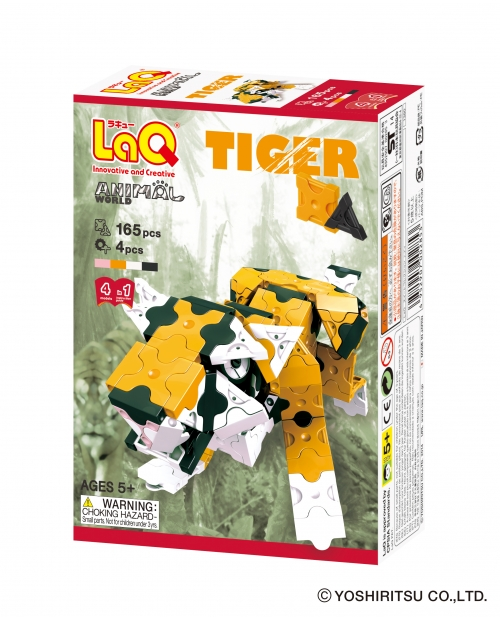 "LaQ ""Animal World ""Tiger"" konstruktorių rinkinyje"