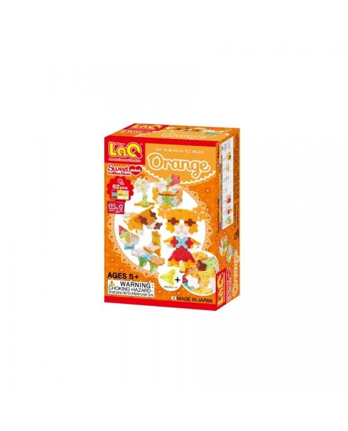 """LaQ Sweet Collection """"Mini Orange"""" konstruktorių rinkinys su ryškiomis spalvomis"""
