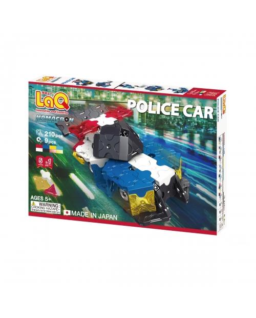 """LaQ Hamacron Constructor """"Police Car"""" - net 5 policijos transporto modeliai viename rinkinyje"""