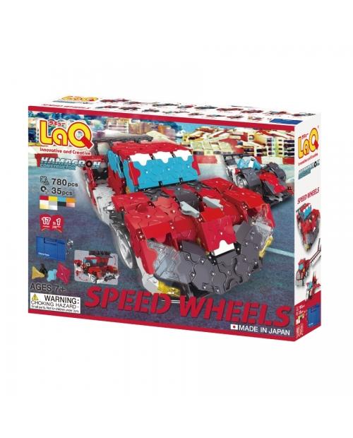 """LaQ Hamacron Constructor """"Speed Wheels"""" konstruktorių rinkinys – NAUJI vidutinio dydžio ratai!"""