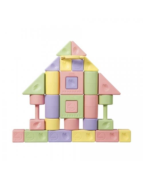 """""""Mochi Blocks Premium"""" žaidimo kaladėlių rinkinys, 28 dalys. Sudėtis: 51% ryžiai"""