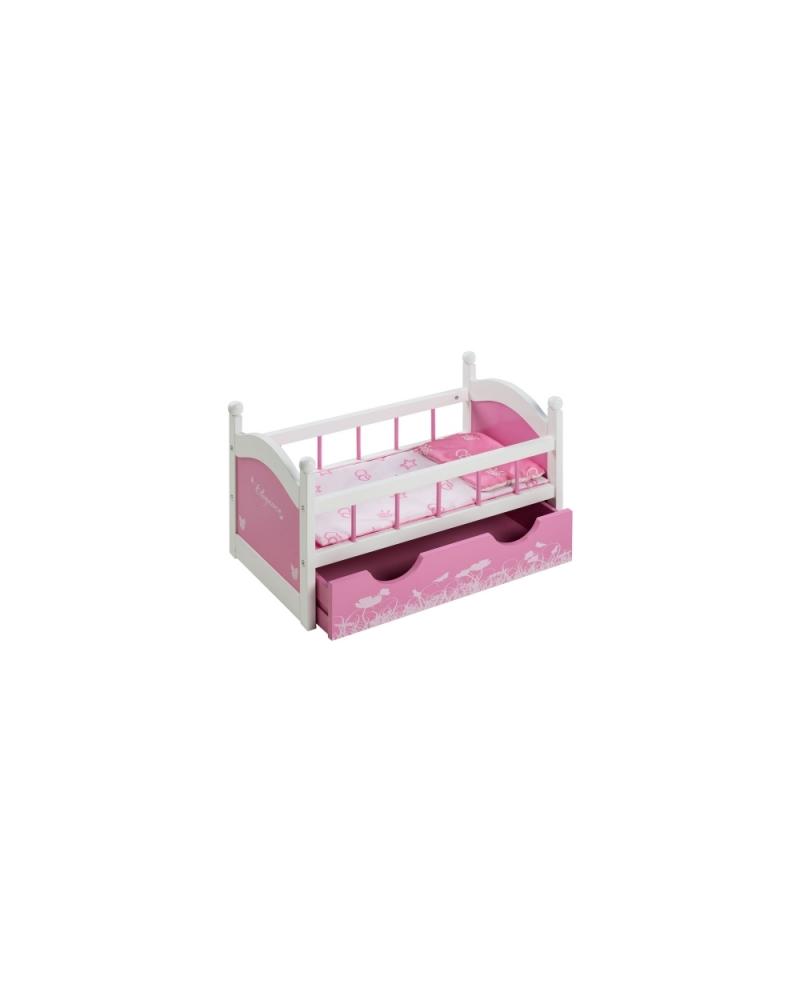 Lėlės lovytė su stalčiumi