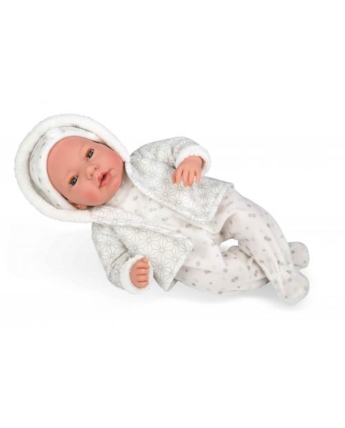 Lėlytė su pilkais šliaužtinukais, 38 cm