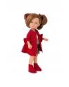 Lėlytė Carole su raudonu paltuku, 36 cm