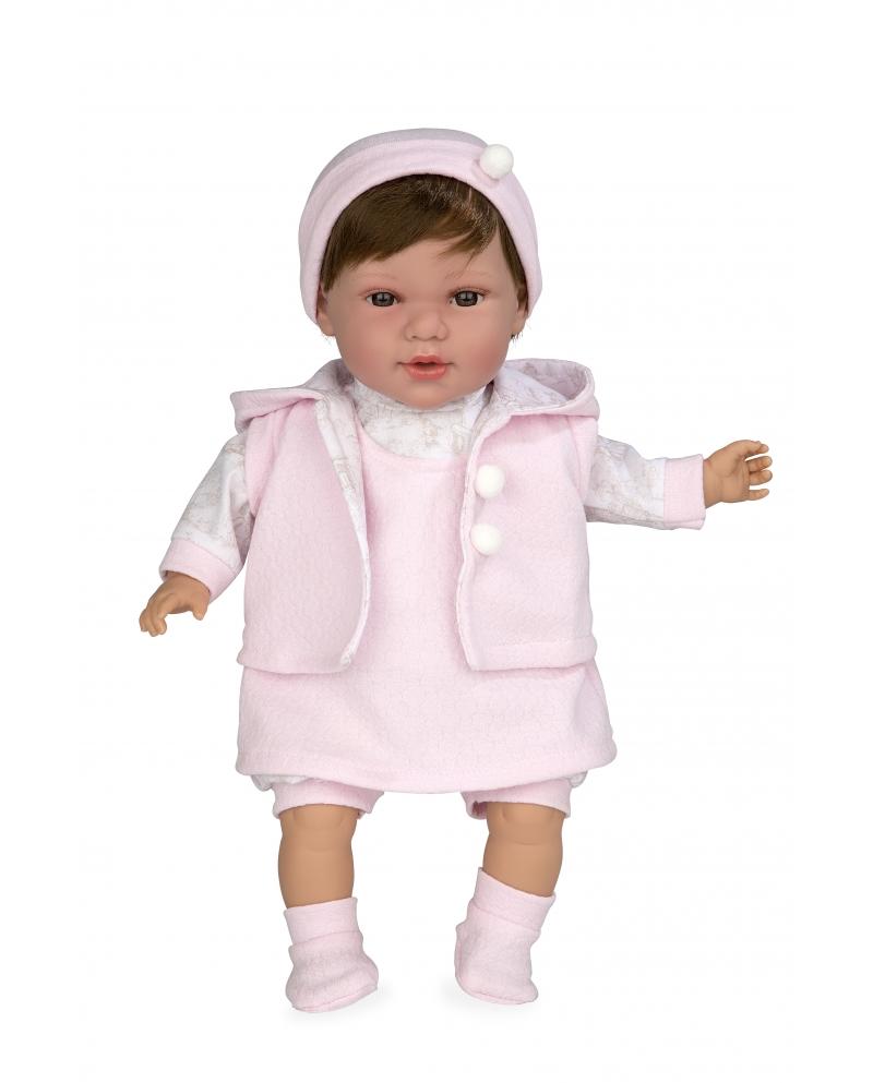 Lėlytė Iria su rožiniais rūbeliais, 42 cm