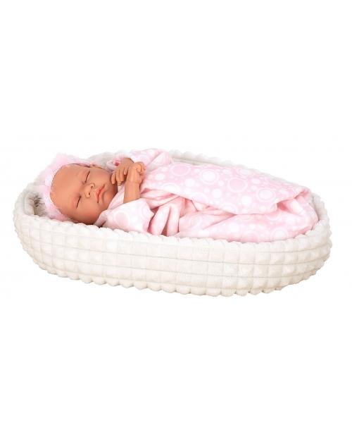 Arias kūdikėlis su gulteliu ir apklotėliu, miegantis