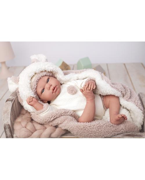 Arias Reborn kūdikėlis su šiltu pleduku, 40 cm