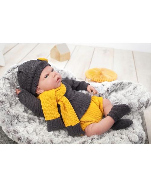 Arias Reborn kūdikėlis su megztais rūbeliais, 40 cm