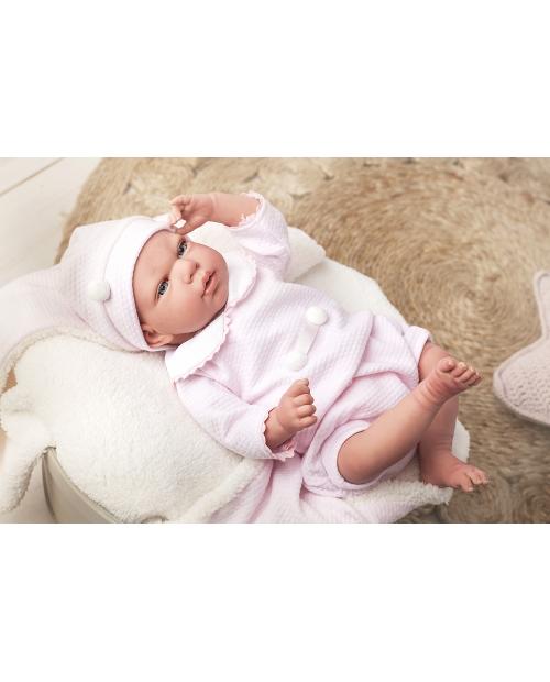 Arias Reborn kūdikėlis su rožiniais rūbeliais, 40 cm